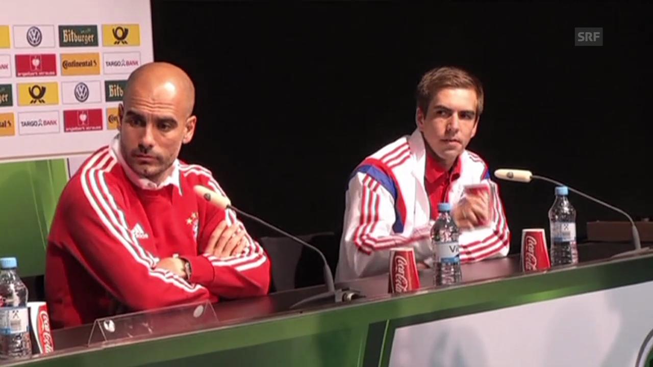 Fussball: Guardiola und Klopp vor dem DFB-Pokalfinale