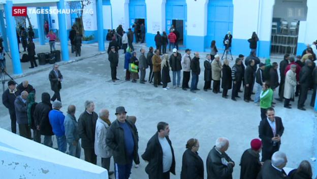 Video «Stichwahl bei der Präsidentenwahl in Tunesien» abspielen