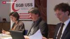 Video «SGB kritisiert «immer ungerechtere Einkommensverteilung»» abspielen