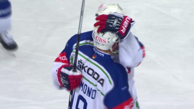 Video «Eishockey: Spengler Cup, Lugano-Adler Mannheim, 3:0 MacMurchy» abspielen