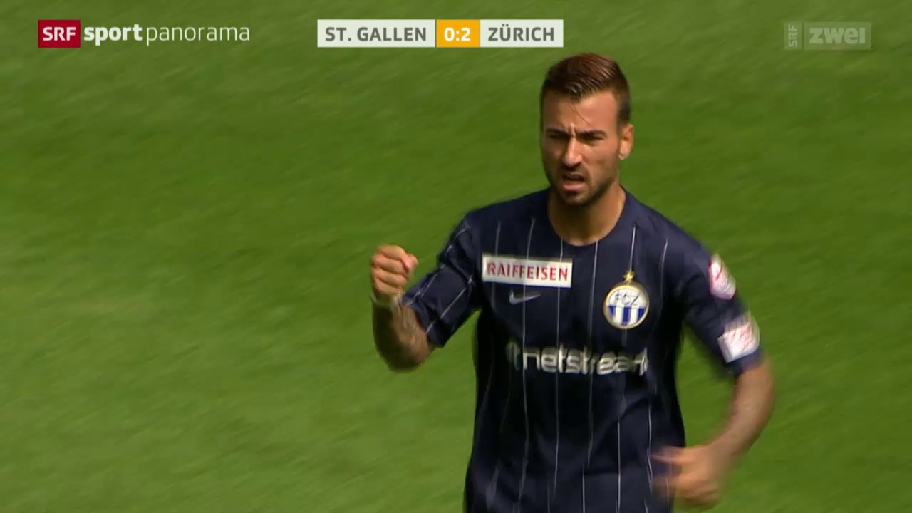 Fussball: Super League, St. Gallen - Zürich
