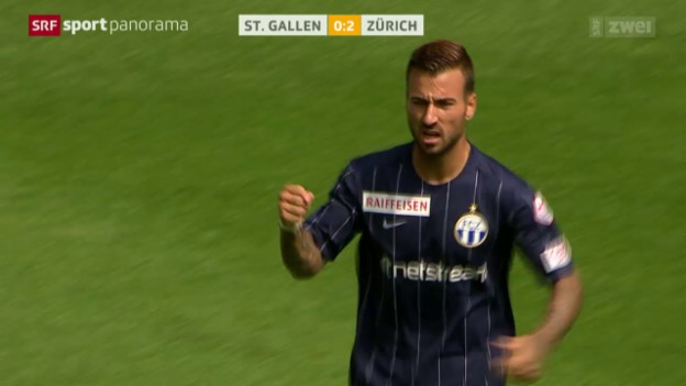Video «Fussball: Super League, St. Gallen - Zürich» abspielen