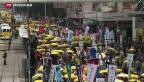 Video «Tausende protestieren in Hongkong für mehr Demokratie» abspielen