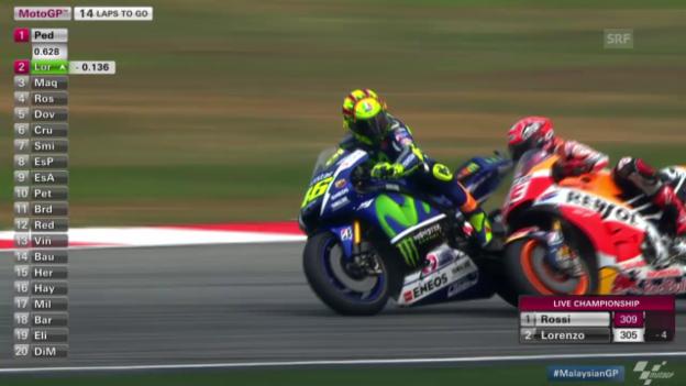 Video «Motorrad: MotoGP, GP Malaysia, Rossi versus Marquez» abspielen
