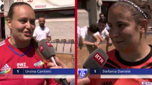 Laschar ir video «Giugaduras-clav èn stadas ils golis – l'intervista en la pausa»