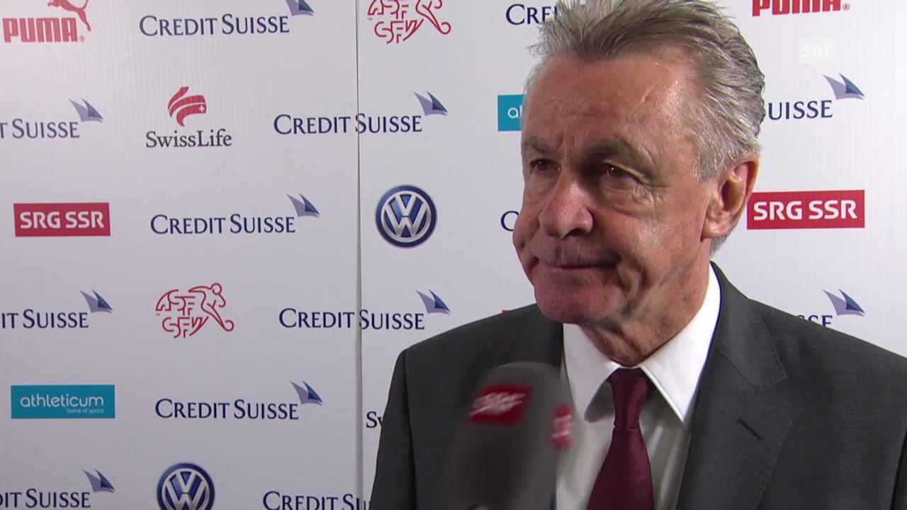 Fussball: Schweiz-Jamaika, Interview Ottmar Hitzfeld