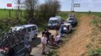 Video «Roubaix-Rennfahrer stirbt an Herzstillstand» abspielen