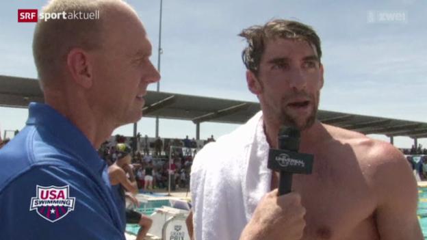 Video «Schwimmen: Michael Phelps' Comeback» abspielen