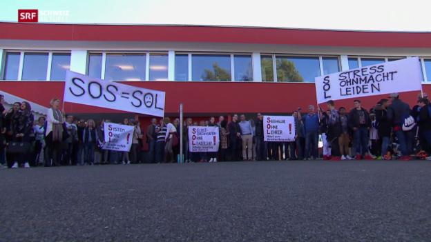 Video «Eltern-Demonstration gegen Schulmodell» abspielen