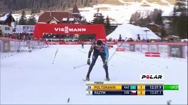Video «Tour de Ski: Alexej Poltoranin im Einzelrennen über 5 km klassisch» abspielen