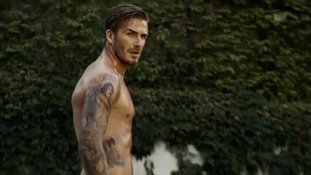 David Beckham beim Shooting seiner neuesten Unterhosen-Kampagne