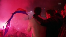 Link öffnet eine Lightbox. Video Impressionen vom «Barfi»: Basels spontane Meisterfeier abspielen