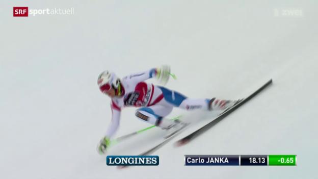 Video «Ski Alpin: Abfahrtstraining am Lauberhorn» abspielen