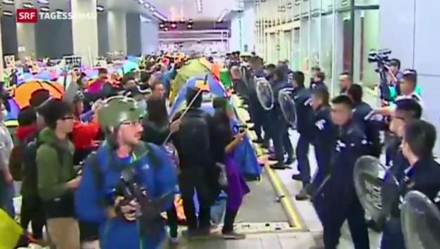Video «Hongkong kommt nicht zur Ruhe» abspielen