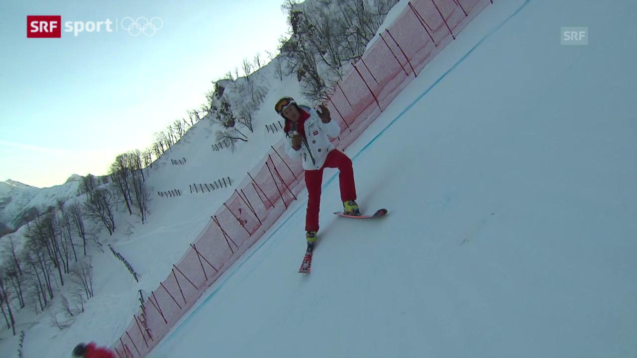 Ski alpin: Die Abfahrts-Piste von Bernhard Russi («sotschi aktuell», 8.2.2014)