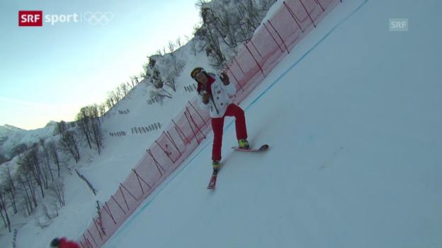 Video «Ski alpin: Die Abfahrts-Piste von Bernhard Russi («sotschi aktuell», 8.2.2014)» abspielen