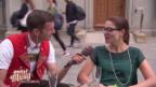 Video «Strassenumfrage: Was halten Sie vom Jodeln?» abspielen