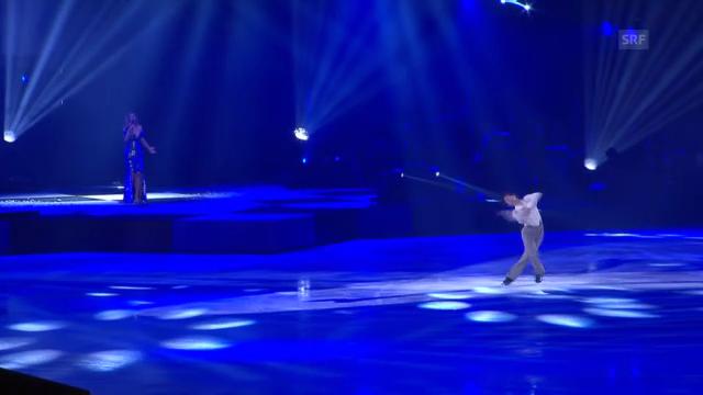Stéphane Lambiel und Leona Lewis bei «Art on Ice»