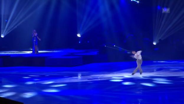 Video «Stéphane Lambiel und Leona Lewis bei «Art on Ice»» abspielen