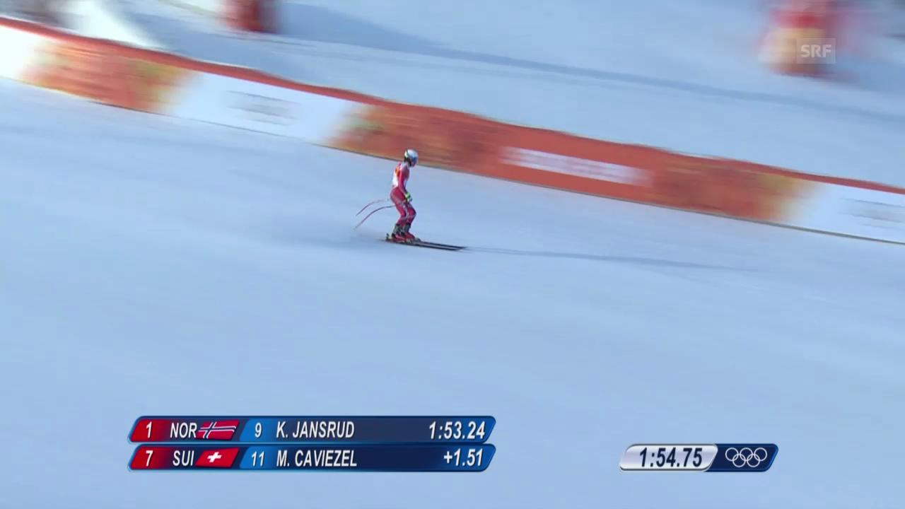 Ski, Kombi-Abfahrt von Mauro Caviezel