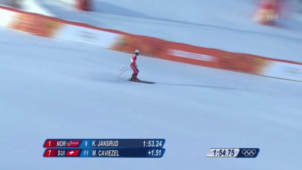 Video «Ski, Kombi-Abfahrt von Mauro Caviezel» abspielen