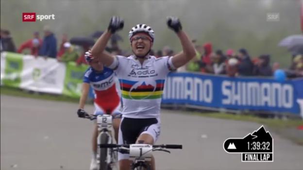 Video «Mountainbike: Cross-Country-Weltcup in Nove Mesto» abspielen