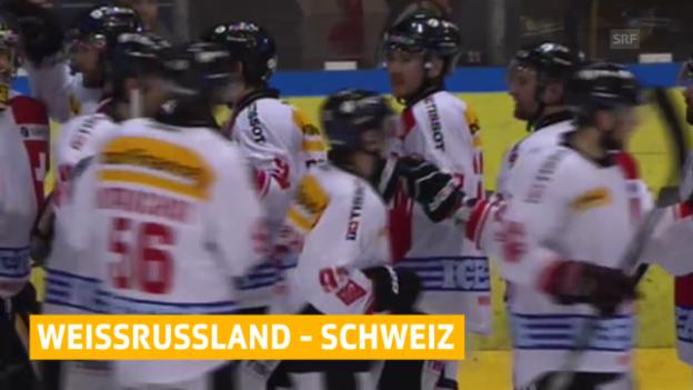 Video «Eishockey, WM-Testspiel, Zusammenfassung Weissrussland - Schweiz» abspielen