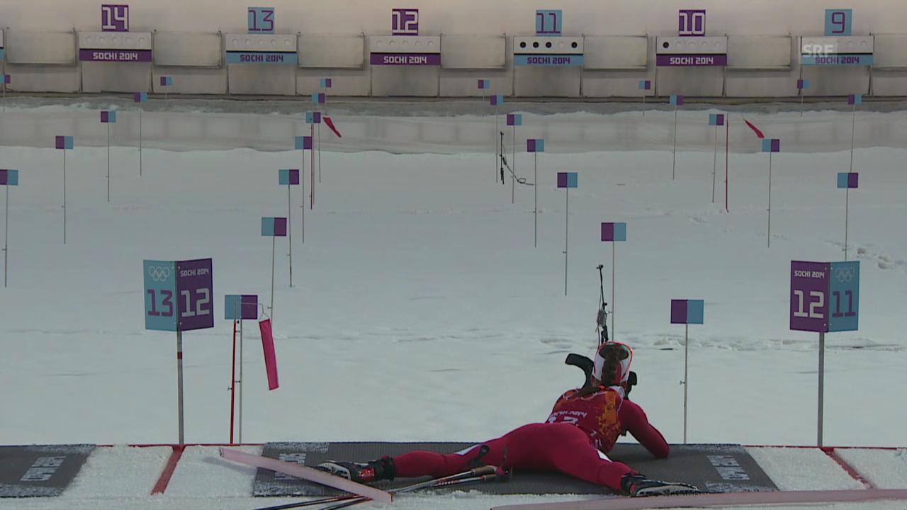 Biathlon: 4x6 km Staffel der Frauen, Highlights der Schweizer Staffel (sotschi direkt, 21.02.2014)