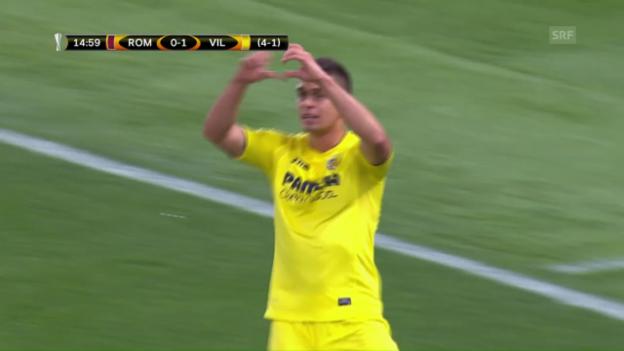 Video «Roma trotz Niederlage gegen Villarreal weiter» abspielen