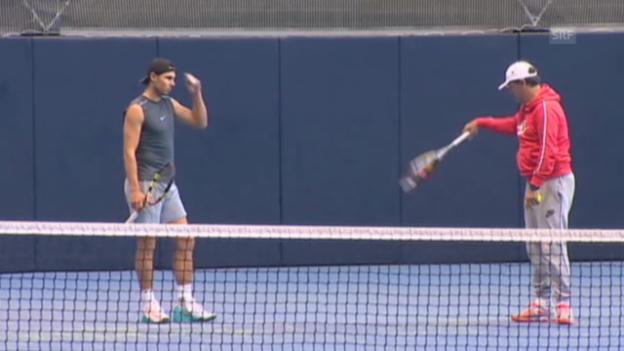Video «Tennis: Nadal wieder im Training» abspielen
