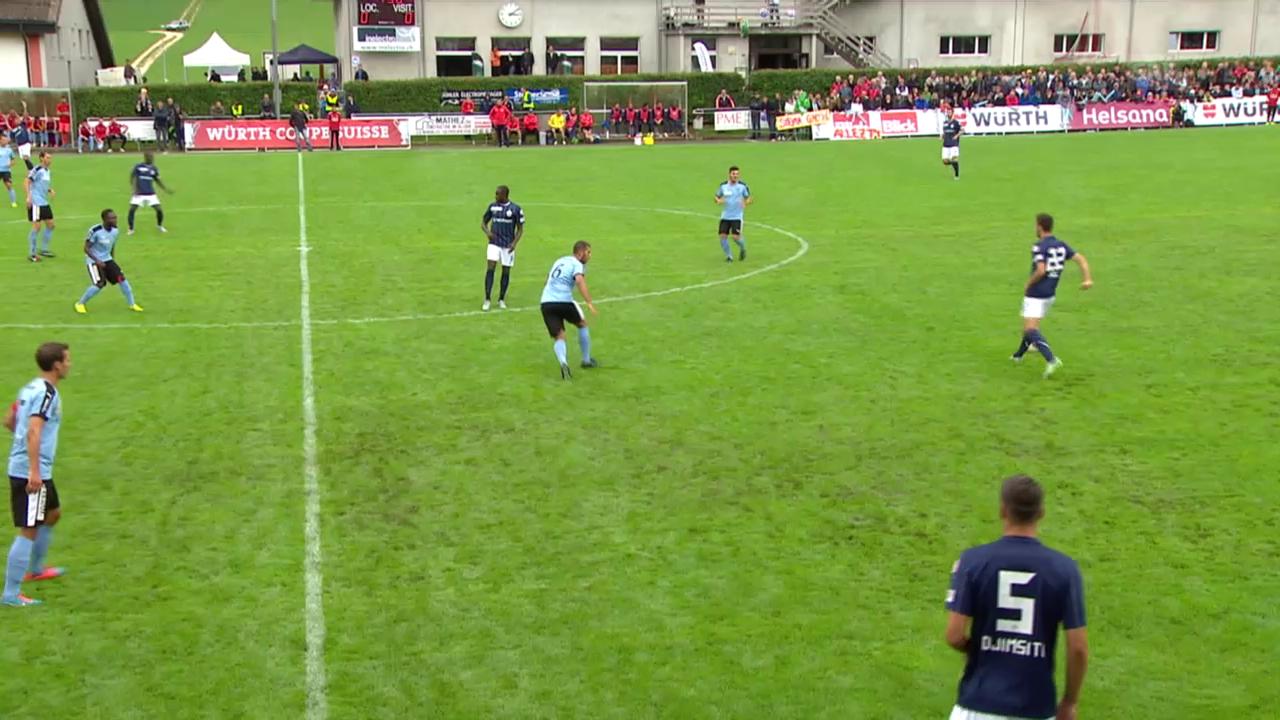 Fussball: Schweizer Cup, 1. Runde: FCTT - Zürich, Alle Tore