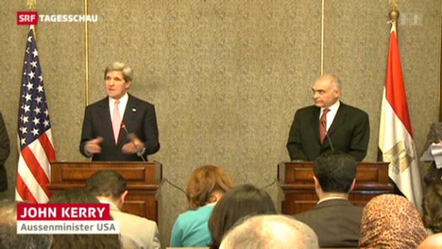 Video «Anti-Kerry-Protest in Kairo» abspielen