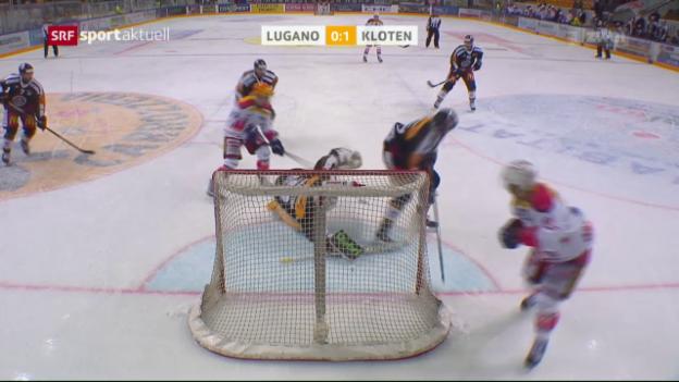Video «Luganos Heimserie hält auch gegen Kloten an» abspielen