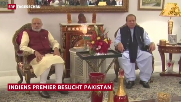Video «Indiens Premier in Pakistan» abspielen