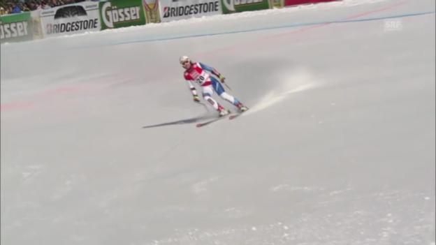 Video «Ski: Fabienne Suters Fahrt beim Super-G in St. Anton» abspielen