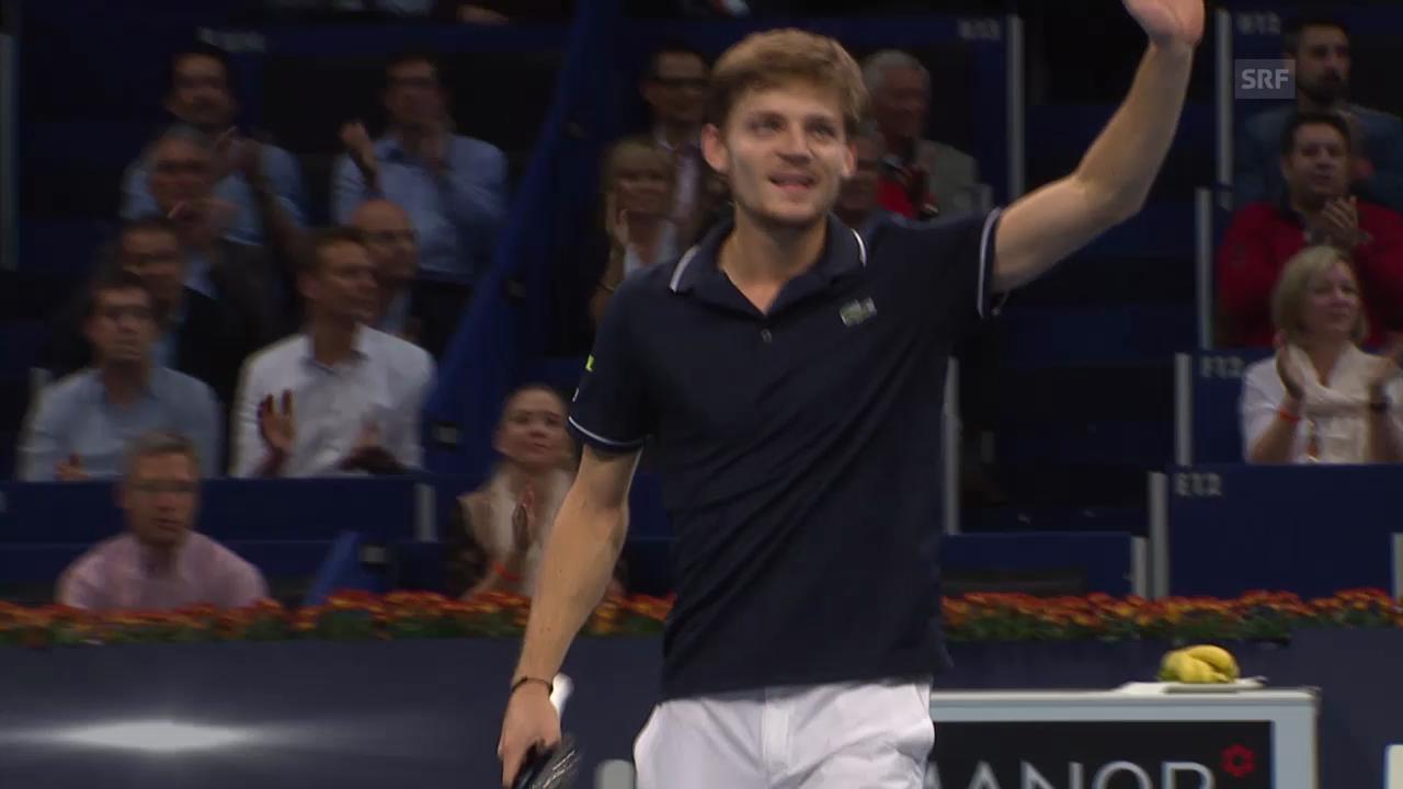 Tennis: Swiss Indoors, Goffin-Raonic