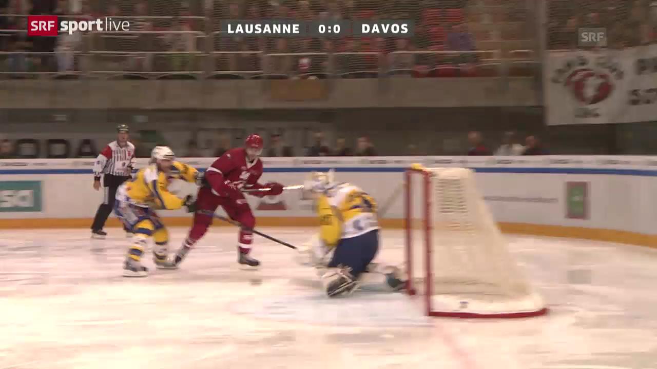 Eishockey: Lausanne - Davos