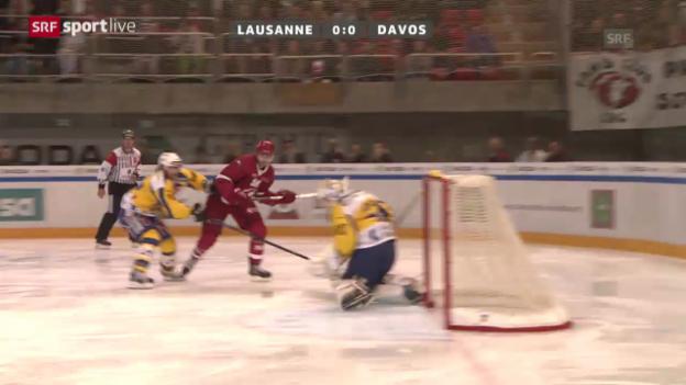 Video «Eishockey: Lausanne - Davos» abspielen