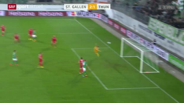Video «Fussball: Schweizer Cup, St. Gallen - Thun» abspielen