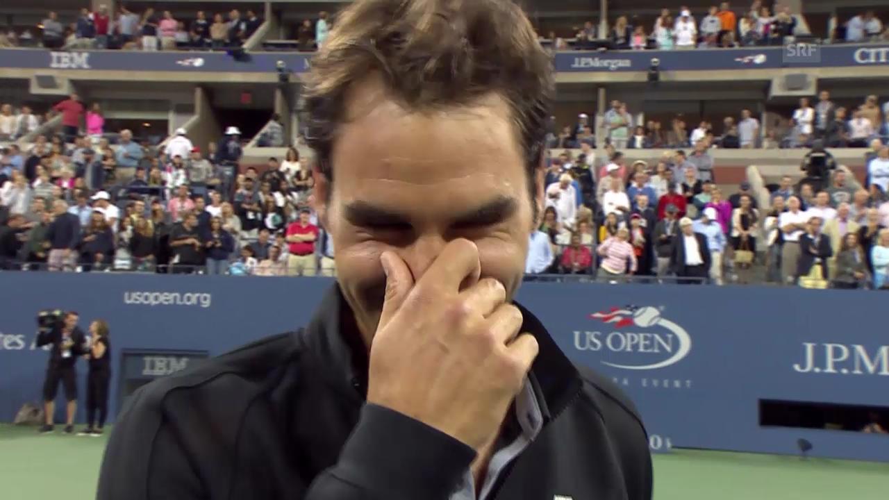 Tennis: Federer im Platzinterview