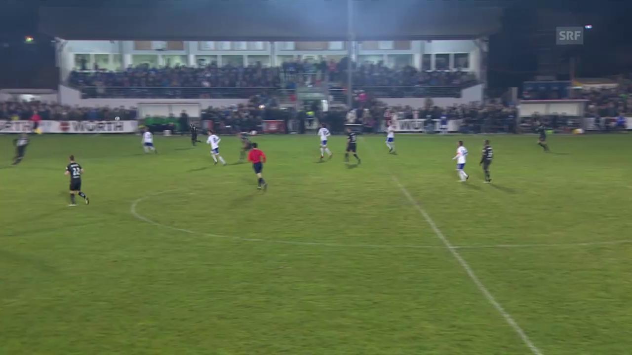 Fussball: Cup-Viertelfinal, Buochs - St. Gallen, Tor Aratore 4:0