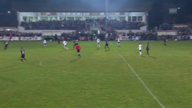 Video «Fussball: Cup-Viertelfinal, Buochs - St. Gallen, Tor Aratore 4:0» abspielen