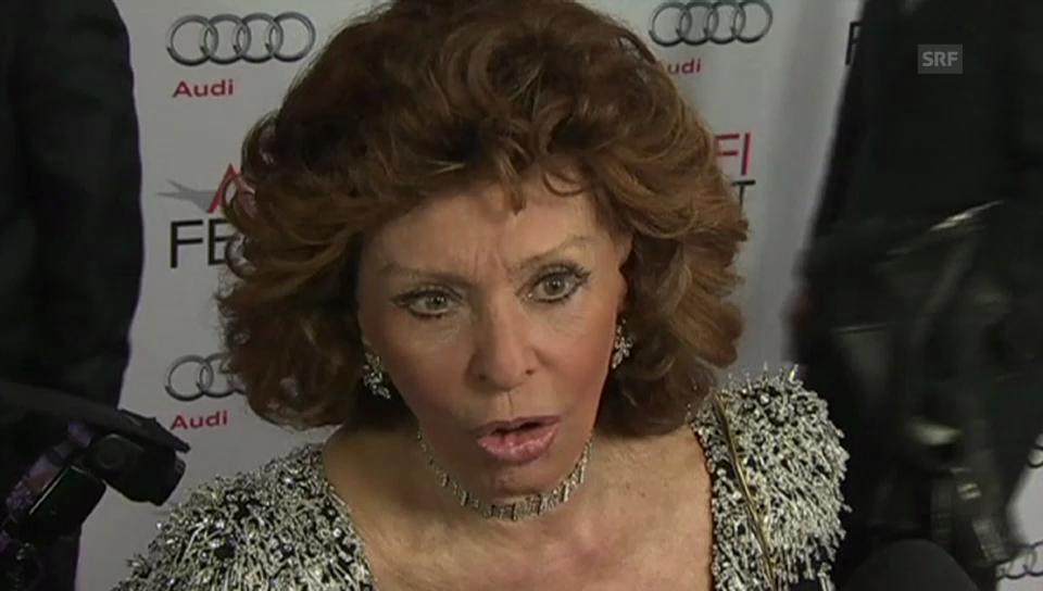 Sophia Loren über die Zusammenarbeit mit ihrem Sohn