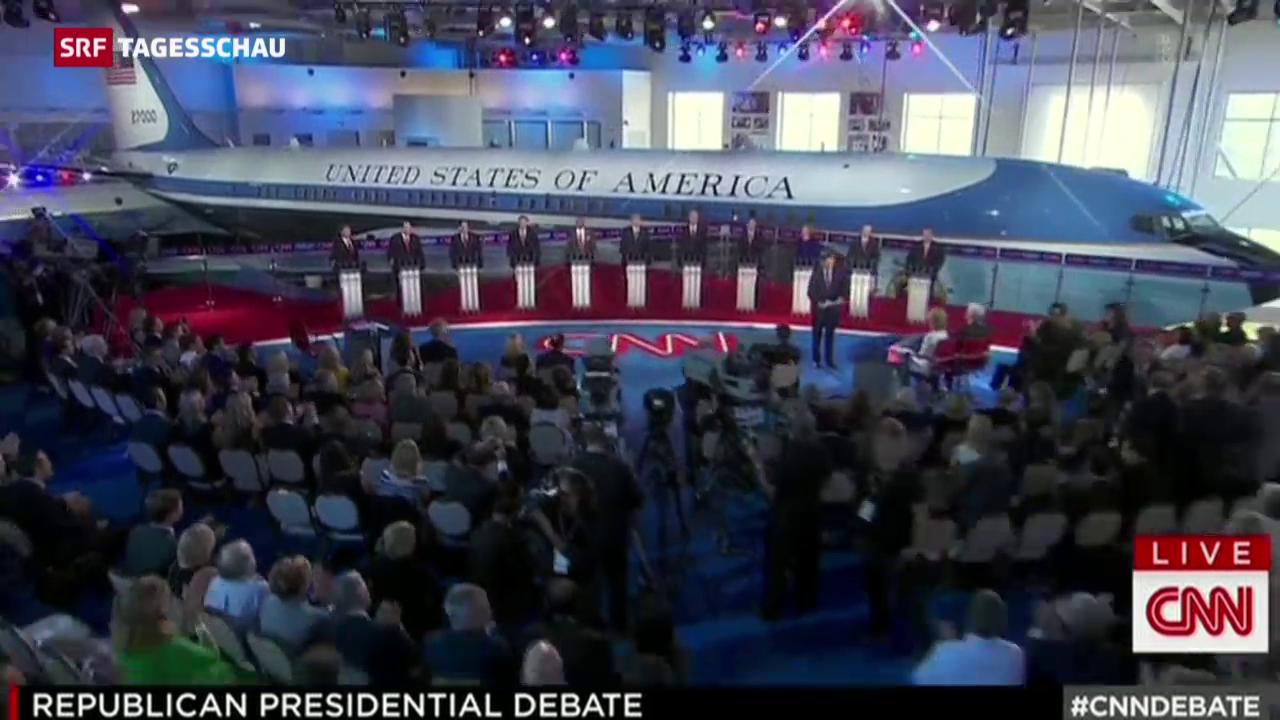 TV-Debatte: alle gegen Trump