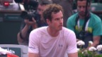 Video «Tennis: French Open, Halbfinal Djokovic-Murray» abspielen