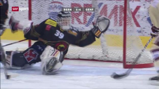 Video «Eishockey: Simeks Overtime-Game-Winner gegen Bern» abspielen