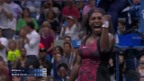 Video «Tennis: US Open, Matchball Serena Williams vs. Mattek-Sands» abspielen