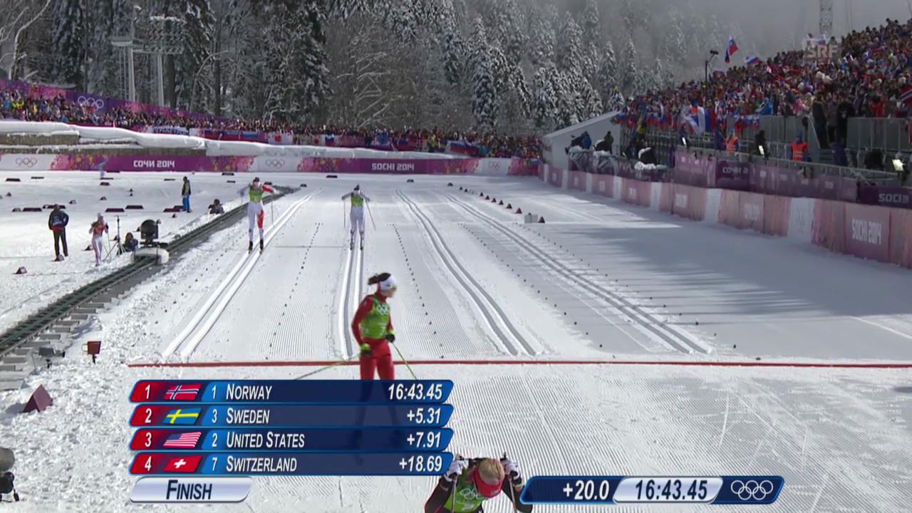Langlauf: Teamsprint Frauen, Halbfinals (sotschi direkt, 19.02.2014)