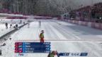Video «Langlauf: Teamsprint Frauen, Halbfinals (sotschi direkt, 19.02.2014)» abspielen