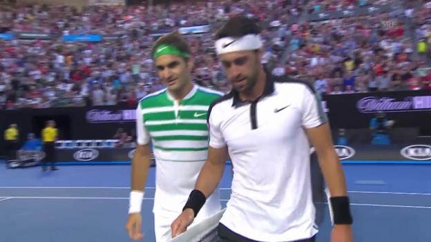 Video «Federers Matchball in Runde 1» abspielen